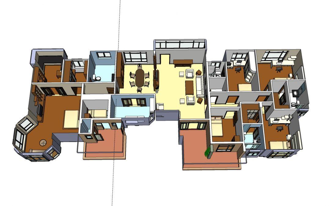 Mẫu thiết kế xây dựng khu tổ hợp phòng làm việc XN10